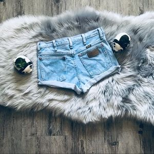 Free People Wrangler High Waisted Cut Offs